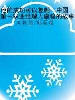 他的成功可以复制--中国第一职业经理人唐骏的故事